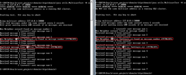 utils.MulticastTest with cluster running - click to view