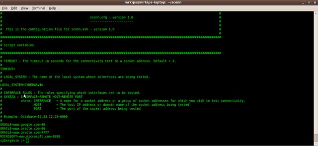 Configuring sconn