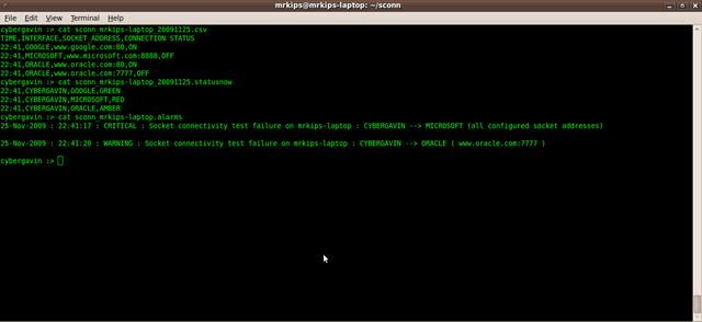 sconn output files
