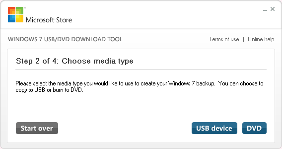 Windows 7 USB/DVD Download Tool - STEP 2